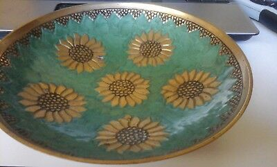 Solid Brass Handcrafted Bowl - Collectable from India - Vintage -19.5cm Diameter