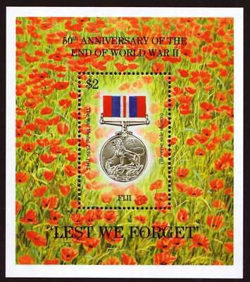 """FIJI - 1995 - 50th ANNIV OF END OF WW11 - """"LEST WE FORGET"""" MINIATURE SHEET - MNH"""