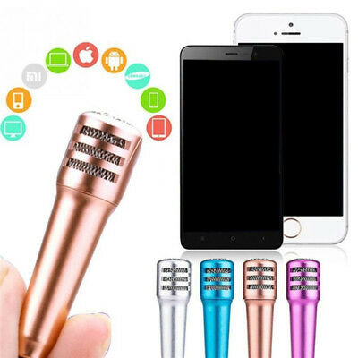 Mini Karaoke Microphone With Earphone For IOS Android Mobile IPhone Table MD