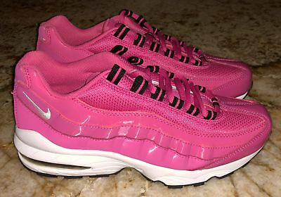 NIKE AIR MAX 95 360 Desert Pink Black Running Training Shoes NEW Youth Girls 6