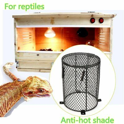 Reptile Heat Mesh Cage Protector Guard Lamp Light Bulb Safety Round 13X16.5CM