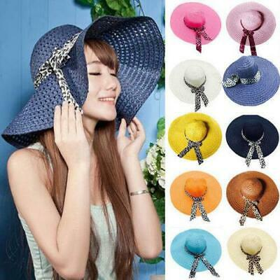 25 pcs Ladies Summer Beach Hat Wide Brim Straw Hat Holidays Wholesale Resellers