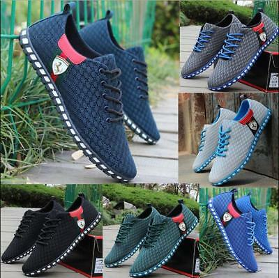 New Fashion Mens Sneakers Trainers Breathable Sport Running Boys Casual Shoes
