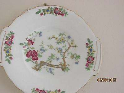 FAMILLE ROSE SANDWICH PLATE by CRESCENT CHINA (GEORGE JONES)