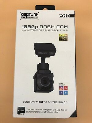 Kapture KPT910 DLX In-CAR Dash Camera Instant GPS, WiFi APP support RRP $299