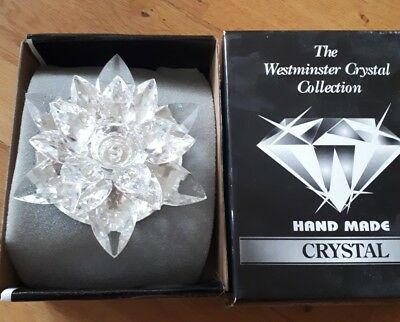 Westminster Crystal Collection crystal glass Lotus Flower candle holder