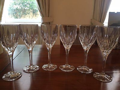 Stuart crystal set of 6 Ashbury wine glasses (as new in box)