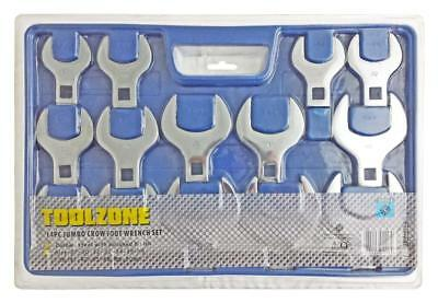 """14pc 1/2"""" Drive Jumbo Crows Foot Metric Spanner Wrench Set Open End 27mm - 50mm"""