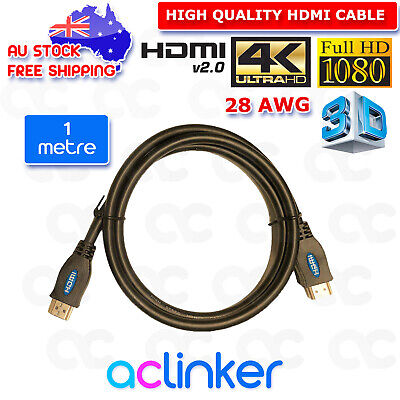 Premium HDMI Cable v2.0 Ultra HD 4K 2160P 1080P 3D High Speed Ethernet ARC 1-10M