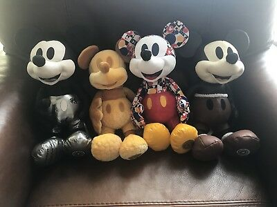 Mickey Memories Plush Soft Toys 1-4 Limited Edition Jan, Feb, March & April