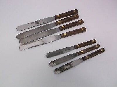 High Carbon Palette Mixing Knife Bundle Lot of (7) Dexter Russell Factory Second