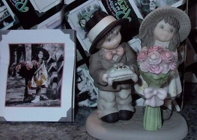 Kim Anderson's Pretty As A Picture Enesco Flowergirl and Ringbearer Figurine New