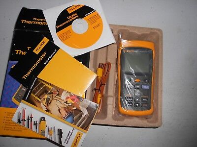 Certified Fluke 54 II B Dual Input Digital Thermometer with Data Logging