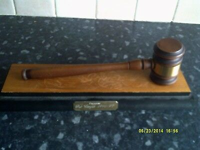 Auctioneers gavel   & stand
