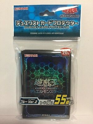 Yugioh Official Card Sleeve Protector : Blue Ver.2 / 55pcs japan F/S