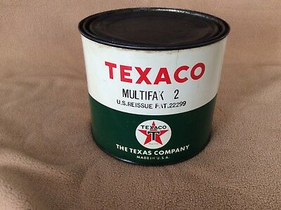 Vintage Texaco Multifak 2, 5# grease can in good condition