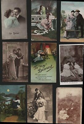 Vintage Romance Sweetheart Couple Love Postcards  AK.495