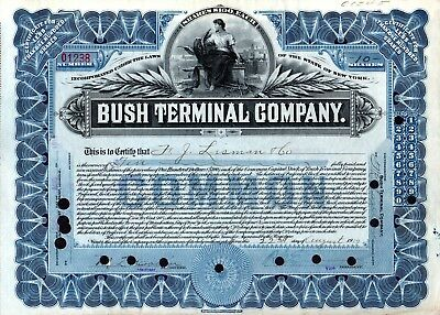 Bush Terminal Company of New York ( railroad ) 1919 Stock Certificate