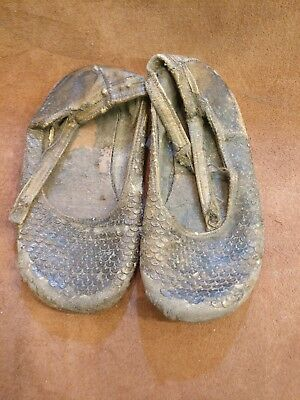 Antique baby/children's shoes, leather
