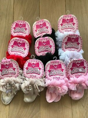 10 pair of Spanish Style Romany TuTu Ankle Socks BNWT 6-12 mths