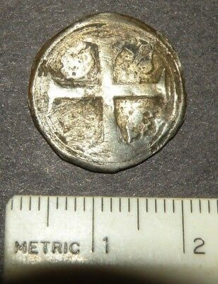 Medieval Silver Coin Large Crusader Cross 1300's Antique Lot Crown Europe Knight
