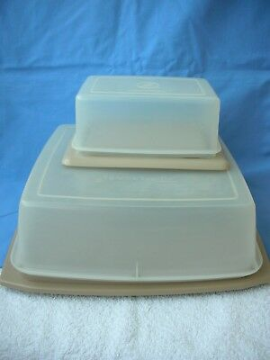 Vintage Tupperware---Matching Set Of Cheese Board + Butter Dish