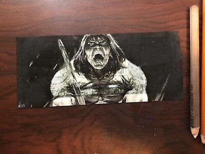 Conan The Barbarian $2 Hobo Dollar One Two Dollar Bill Original Art Real Money