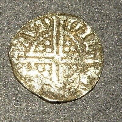 Medieval Silver Coin Crusader Two Cross1200's Antique Lot Europe Great Britain +