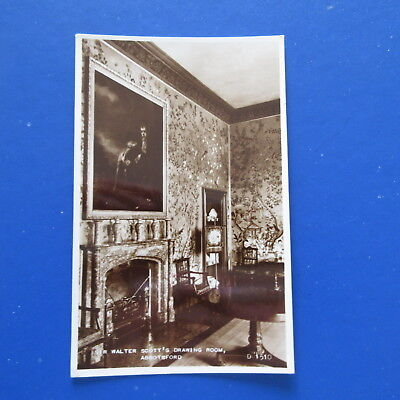 Old Postcard of Sir Walter Scott's Drawing Room. Abbotsford.