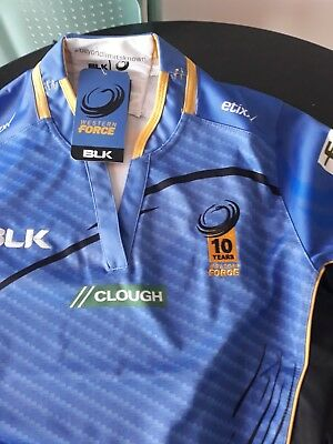western force ladies size 10 Rugby shirt bnwt