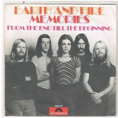 """7"""" - EARTH AND FIRE - MEMORIES - german PS"""