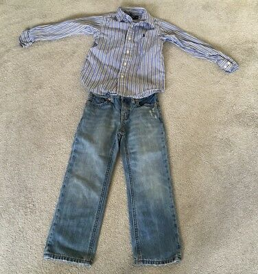 Genuine polo  Ralph Lauren Polo  boys jeans and shirt Age 4 Years Vgc