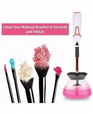 Makeup Brush Cleaner - 360 Rotation Electric Makeup Brushes Cleaner and Dryer