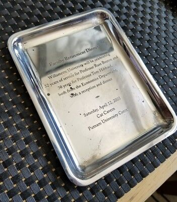 Tiffany & Co Sterling Silver Tray Engraved 144 Grams .925