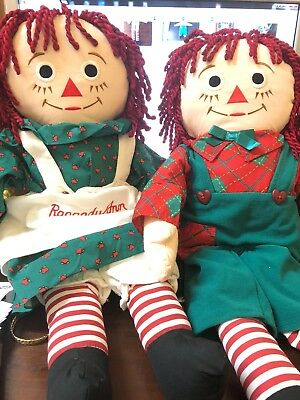 Christmas Raggedy Ann & Andy Dolls Target Snowden Friends 1998 Commonwealth