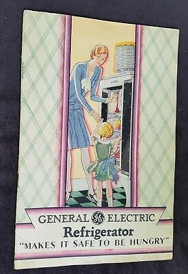 1929 Advertising Booklet General Electric Refrigerator Color Litho Model PX