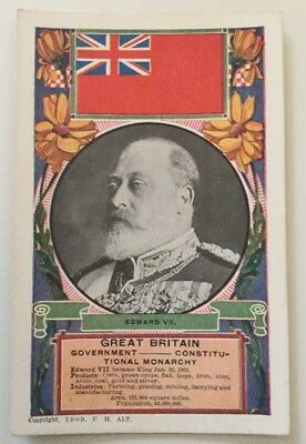 Great Britain King Edward VII 1909 Pc Country Stats