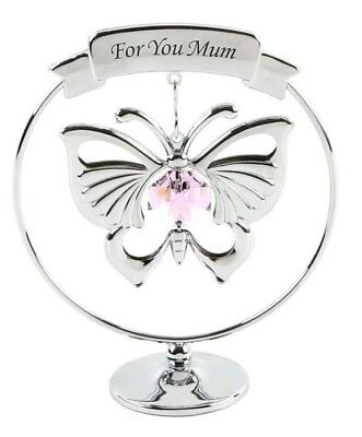 Mum Butterfly Crystocraft Swarovski Element Ornament Mothers Day Birthday Gift