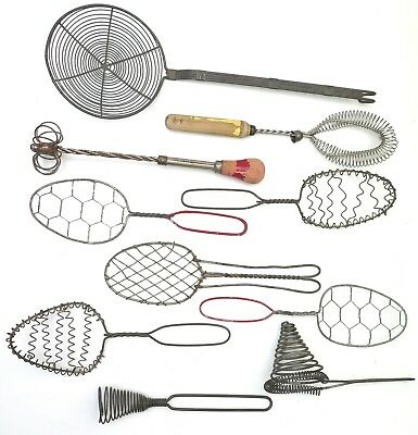 Vintage Lot of 10 Wire Kitchen Utensils from the 1940's 1950's