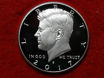 2017 S Kennedy Extra Frosty Deep Cameo Proof 90% Silver Half Dollar  #45R