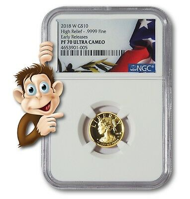 2018-W Gold Liberty $10 High Relief -- NGC PF70 ULTRA CAMEO -- NO RESERVE