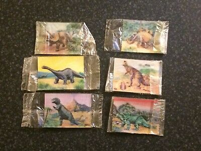 1973 Cereal Toy Flicker Cards ~Dinosaurs ~  3D Lenticular