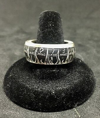 6a64b2d7fe55 MOLON LABE .999 1 oz Silver Coin Ring -  99.00