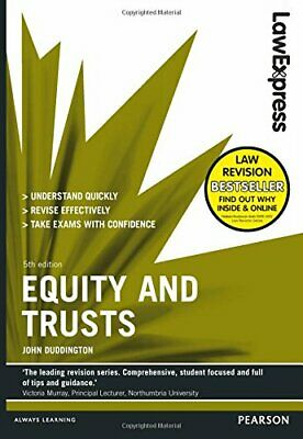 Law Express: Equity and Trusts by Duddington, John Book The Cheap Fast Free Post