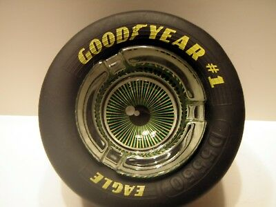 Goodyear Rubber Tire Eagle Eye Glass Ashtray
