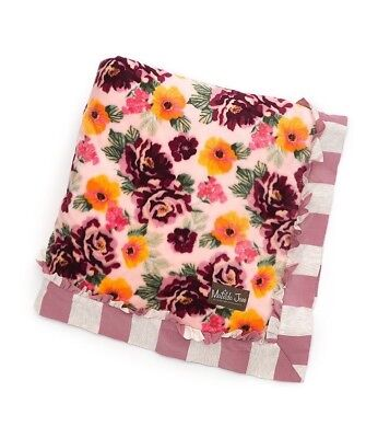 Matilda Jane Blanket Throw Once Upon a Time Floral Soft 62 x 62 NWT Without Bag