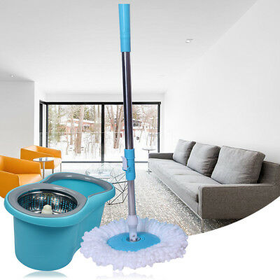Stainless Steel 360°Spin Mop & Bucket Set Foot Pedal Rotating Magic Floor Mop AB