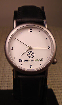 """quartz watch: custom dial advertising / Volkswagen / """"Drivers Wanted"""" campaign"""