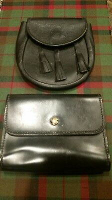 Leather Sporran and belt pouch for kilts