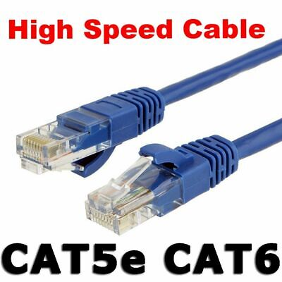 Fast CAT6 Ethernet Cable Network LAN Cord CAT5e Patch Data Internet Lead RJ45